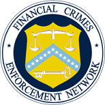 Financial Crimes Enforcement Network (FinCEN) seal United States Department of the Treasury